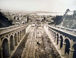 Abertura da avenida Borges de Medeiros e construção do viaduto Otávio Rocha. Acervo do Museu Joaquim Felizardo