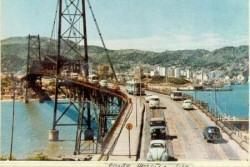 Ponte Hercilio Luz em 1960.