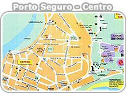Mapa do Centro de Porto Seguro