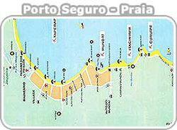 Mapa das Praias  de Porto Seguro